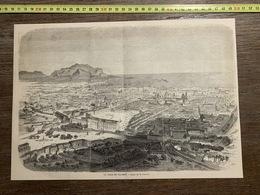 1860 ILL GRAVURE VILLE DE PALERME SICILE - Vecchi Documenti