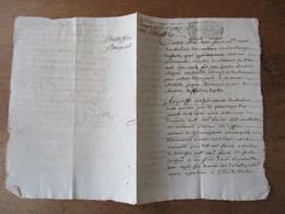 MANUSCRIT CHABONS DU 3 MARS 1701 CACHET GENERALITE - Cachets Généralité