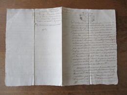 MANUSCRIT CHABONS DU 25 FEVRIER 1736 CACHET GENERALITE GRENOBLE - Cachets Généralité
