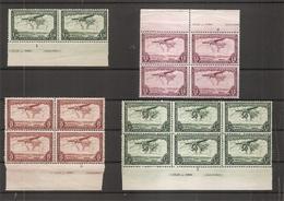 Congo Belge ( Lot De 4 Blocs XXX -MNH - De PA Avec Numéros De Planche + Inscriptions Marginales) - Congo Belge