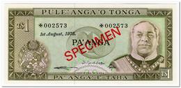TONGA,1 PA ANGA,1978,P.19,SPECIMEN,UNC - Tonga