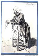 Carte Postale  Charles Homualk  Prieuse à Pont-Croix  Trés Beau Plan - Homualk