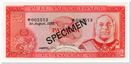 TONGA,2 PA ANGA,1978,P.20,SPECIMEN,UNC - Tonga