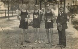 CARTE PHOTO SOUVENIR DU CHAMPIONNAT DE PARIS 1927 - Athletics