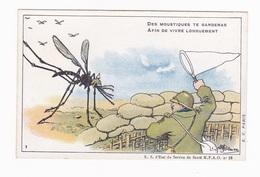 Carte En Franchise Militaire Anti-paludéenne De L'armée D'Orient - Des Moustiques Te Garderas - Cartes De Franchise Militaire