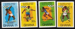 Gabon / Olympic Games Montreal 1976 / Athletics Football Boxing Winners / Mi 646-649 / Imperforated / MNH - Sommer 1976: Montreal