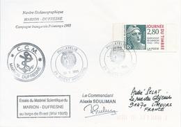 Lettre Essais Du Matériel Scientifique Du Marion Dufresne Large De Brest- Cachet Philatélie Brest Principal - 22/05/1995 - Polar Ships & Icebreakers