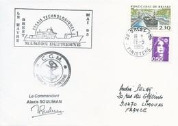Lettre Essais Technologiques Du Marion Dufresne Large De Brest - Cachet Manuel Brest Ppal - 26/05/1995 - Polar Ships & Icebreakers