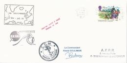 "Lettre ""Marion Dufresne"" Avec Timbre Grande-Bretagne N°1775 - OMEC Stornoway Isle Of Lewis Du 05/06/1995 - Polar Ships & Icebreakers"