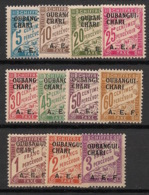 Oubangui - 1928 - Taxe TT N°Yv. 1 à 11 - Série Complète - Neuf Luxe ** / MNH / Postfrisch - Unused Stamps