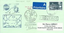 "Lettre ""Marion Dufresne"" Avec Timbre N°2892 Pays De Saulx - Cachet Manuel Torshavn Foroyar Du 07/06/1995 - Polar Ships & Icebreakers"