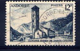 ANDORRE - 145° - CLOCHER ROMAN DE SAINTE COLOMA - Gebruikt