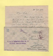KUK Postamt 136 - Kuk Infanterie Reg. N°4 XXXIX Marsch-Komp - 1917 - Covers & Documents