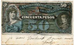 REPRESENTACION Du BILLET De 50 PESOS  - EL BANCO De La REPUBLICA ORIENTAL De L'URUGUAY - BELLE CARTE TRES RARE  - - Uruguay