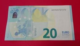 20 EURO U020 A6 - FRANCE -  UE5525727272 - Just Three Different Digits2-5-7 - UNC FDS NEUF - 20 Euro