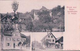 Gruss Aus Unter-Lunkhofen AG, Bureau De Poste Et Attelage (407) - AG Aargau
