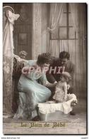 CPA Fantaisie Enfant Bebe Femme Le Bain De Bebe - Enfants