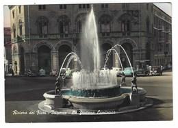 4206 - RIVIERA DEI FIORI IMPERIA LA FONTANA LUMINOSA AUTOMOBILI 1957 - Imperia