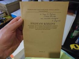 FOLDTANI KOZLONY Különlenyomat 1972  Id. Loczy Lajos Kutatasai A Magas-Himalayaban  Dr Jugovics Lajos Dr Szentes Ferenc - Livres, BD, Revues