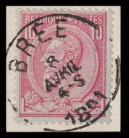 COB N° 46 /Fragment -  Belle Oblitération - BRÉE - 1884-1891 Leopold II.