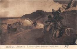 ILLUSTRATEUR - RAOUL ARUS - LE PORTEUR DE DEPECHE - OCTOBRE 1870 - SIEGE DE PARIS - MILITARIA, GUERRE, BALLON - Autres Illustrateurs