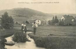 """CPA FRANCE 88 """"Granges, Une Partie De Pêche à La Truite Près Du Pinchesté"""" - Granges Sur Vologne"""