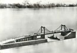 """CPSM FRANCE 76 """"Tancarville, Maquette Du Pont"""". / MAQUETTE - Tancarville"""
