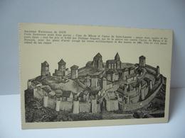 ANCIENNE FORTERESSE DE DUN  71 SAÔNE ET LOIRE CETTE FORTERESSE AVAIT DEUX PORTES   CPA Phot Combier Macon - France