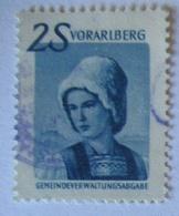 Österreich, Gemeindeverwaltung Vorarlberg Gebührenmarke 2 Schilling (28939) - Österreich