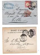 22 Documents Anciens Variés ( Cartes, Lettres, Entiers-postaux...). Hongrie, Russie, Allemagne Et Autres. V. Détails. - Cartoline