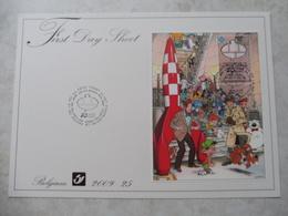 Firts Day Sheet Tintin Et Bd / Kuifje Blok 173 - Belgique