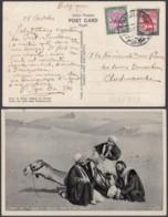 """SOUDAN CP """"SOUS LE SOLEIL BRULANT DU DESERT """" 1934 VERS BELGIQUE (DD) DC-7229 - Sudan"""