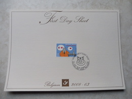 Bd Firts Day Sheet 2008 Le Chat  3747 - Belgique