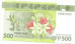 Billet Francs  500 Francs  Cfp   Ttématique  Fleurs  Luxe  Trés Trés Bien (peticlasfdcble) - France