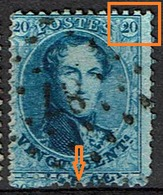 15B   Obl   V1  Retouche Coin Sup. Droit  Voisin - 1863-1864 Medallions (13/16)