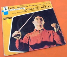 Vinyle 45 Tours   Roberto Benzi   Litszt La Célèbre Rapsodie Hongroise N°2  (1961) - Clásica