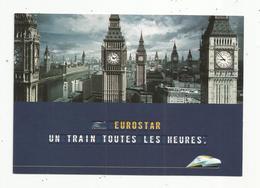 Cp , Publicité , Chemin De Fer , Train , EUROSTAR , Vierge , 1999 - Trenes