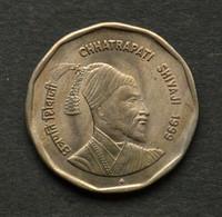 1999 Indien Indian 2 Rupees (1st Chhatrapati King Chhatrapati Shivaji - 1674-1680) Commemorative Münze Asia Coin - Inde