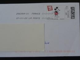 Walt Disney 90 Ans De Mickey Bande Dessinée Timbre En Ligne Montimbrenligne Sur Lettre (e-stamp On Cover) TPP 5047 - Disney