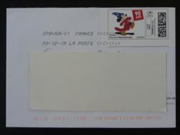 Walt Disney 90 Ans De Mickey BD Timbre En Ligne Montimbrenligne Sur Lettre (e-stamp On Cover) TPP 5055 - Disney