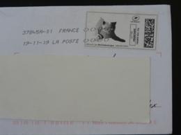 Chat Cat Timbre En Ligne Montimbrenligne Sur Lettre (e-stamp On Cover) TPP 5090 - Chats Domestiques