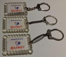 3 PORTES-CLEFS / KEYCHAIN BISCUITS OLIBET - Porte-clefs