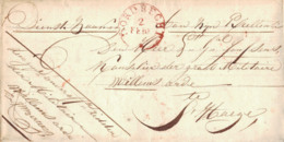 ~1830 DORDRECHT Bfh An Exellenz Janssen,Kanzler Der Militär Willems Orden In S'Hage - Niederlande