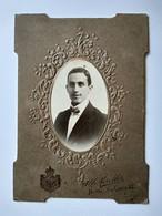 Photographie Ancienne Cartonnée Type Cabinet - Portrait Jeune Italien Élégant - Photo Morelli, NAPLES - TBE - Foto