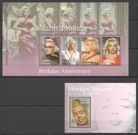 B983 2006 GHANA MARILYN MONROE BIRTHDAY #3917-20 MICHEL 14 EURO 1KB+1BL MNH - Attori