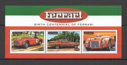 B1008 1998 GUYANA TRANSPORT AUTOMOBILES CARS FERRARI #6368-70 KB MNH - Autos