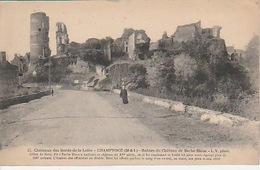 20 / 3 / 48. - CHAMPTOCÉ  (. 49 )  RUINES  DU  CHÂTEAU  DE   BARBE - BLEUE   - CPA - France