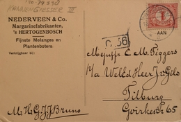 's Hertogenbosch (Den Bosch) Reklame Van Nederveen & Co. Margarinefabrikanten Op Duitse Krt. 1915 NL Gebruikt - 's-Hertogenbosch
