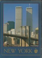 Brooklyn Bridge In Front Of World Trade  - Photo: Dennis Hallinan/FPG - Timbre William T. Piper - World Trade Center