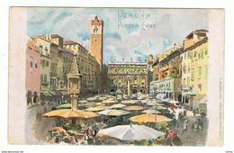 VERONA:  PIAZZA  ERBE  -  ILLUSTRATORE  E. SALA  -  FP - Piazze Di Mercato